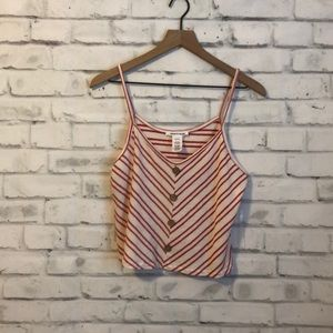 NWOT Caution to the wind striped crop
